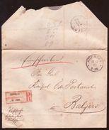 LIECHTENSTEIN/AUSTRIA FORERUNNER - HUFINGEN REG 1893 - Liechtenstein