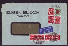 GERMANY, DANZIG TO ENGLAND 1935 COVER - Germany