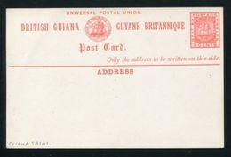 BRITISH GUIANA SHIPS STATIONERY POSTCARD COLOUR TRIAL 1879 - British Guiana (...-1966)