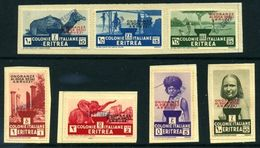 ITALIAN COLONIES- ERITREA 1933 ABRUZZI SET O/P SPECIMEN - Italy