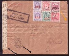 JORDAN/PALESTINE/NABLUS TO CAIRO AV2 AIRMAIL COVER - Palestine
