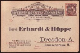GERMANY 1890's COAL ADVERTISING POSTCARD - Germany