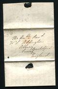 PORTUGAL GB SHIP LETTER MARITIME 1837 LISBON F BRITISH POST OFFICE - Portugal