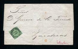 MEXICO GUADALAJARA 1867 ENTIRE LETTER ZACATECAS - Mexico