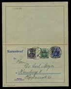 GERMANY ALLENSTEIN OLSZTYN PLEBISCITE STATIONERY LETTERCARD KARTENBRIEF 1921 - Germany
