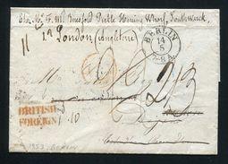 GERMANY BERLIN GB LONDON FISH DOCKS 1853 POSTAGE DUE - Germany