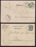 DANZIG 1892 AND 1901 CARDS - Poland