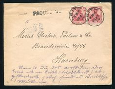 GERMANY USED ABROAD GB SCOTLAND MARITIME LEITH PAQUEBOT 1905 - Germany