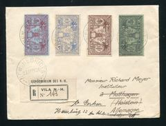 NEW HEBRIDES NOUVELLES REGISTERED 1936 WEAPONS AND IDOLS - New Hebrides