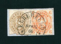 GERMANY PRUSSIA PREUSSEN ELBERFELD HORSESHOE POSTMARK 1866 - Germany