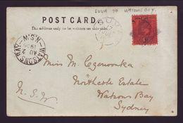 FUJI VILLAGE POSTMARK EARLY POSTCARD 1906 WATSONS BAY AUSTRALIA - Fiji (...-1970)