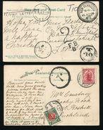 NEW ZEALAND POSTAGE DUE RAILWAY NEW PLYMUTH GISBORNE 1906 - New Zealand
