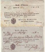 GERMANY SAXONY POSTAL RECEIPTS 1823/5 - Germany
