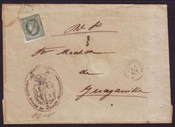 QUEEN ISABELLA GUAYANILLO 1866 COVER - Stamps
