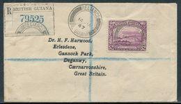 BRITISH GUIANA MOUNT RORAIMA $2 GEORGE VI RELIANCE RARE AIR MAIL POSTMARKS - British Guiana (...-1966)