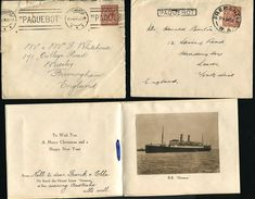 W AUSTRALIA GREAT BRITAIN USED ABROAD SHIPPING PAQUEBOT FREMANTLE 1903-1939 - Postmark Collection
