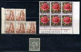 "AUSTRALIA 1966-73 'N.S.W.G"" PERFINS - Sheets, Plate Blocks &  Multiples"