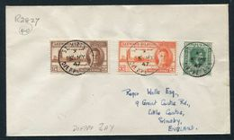 LEEWARD ISLANDS ST. KITTS UNUSUAL POSTMARK VICTORY 1947 - Leeward  Islands