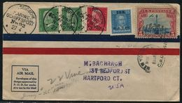 GERMANY SCHIFFSPOST SHIP MARITIME USA AIR MAIL COMBINATION MAIL 1929 - Germany
