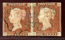 GB 1843 1d RE-ENTRY PLATE 30 CB-CC - 1840-1901 (Victoria)