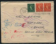 GREAT BRITAIN UGANDA KENYA RARE HANSTAMP 1956 - 1952-.... (Elizabeth II)