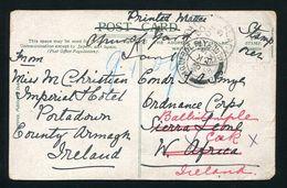 IRELAND GREAT BRITAIN SIERRA LEONE ARMY PAQUEBOT WATERFALLS MARITIME 1908 - Ireland
