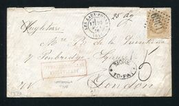 FRANCE GREAT BRITAIN POSTAGE DUE MORETO PAY 1870 - Europe (Other)