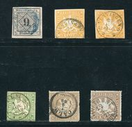 GERMANY WURTTEMBERG 1851/1859 FINE USED STAMPS - Germany