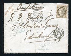 FRANCE GREAT BRITAIN POSTAGE DUE PARIS EDINBURGH 1874 - Europe (Other)