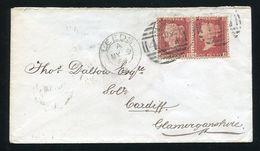 GREAT BRITAIN VICTORIA RARE DUPLEX DOUBLE CIRCLE POSTMARK YORKSHIRE 1864 - 1840-1901 (Victoria)