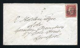 GREAT BRITAIN RAILWAY VICTORIA 1d RED NORTH WEST NIGHT STAR POSTMARK - 1840-1901 (Victoria)