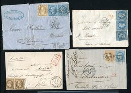 FRANCE COVERS 1860s/1870s EGYPT AUSTRIA VENICE SWITZERLAND - Europe (Other)