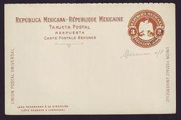 MEXICO EAGLE STATIONERY CARD SPECIMEN O/P - Mexico