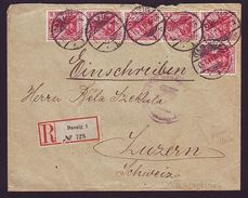 DANZIG 1915 GERMAN ARMY CENSORED COVER WWI REGISTERED - Germany