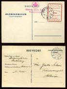 DENMARK RED CROSS WWII POSTCARD SPECIAL STAMP - Denmark