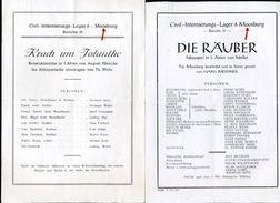 GERMANY WWII INTERNMENT CAMP MOOSBURG PROGRAMMES - Germany