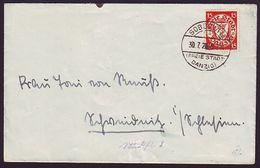DANZIG 1928 RARE POSTMARK SOBBOWITZ - Germany