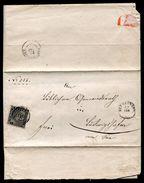 GERMAN STATES - BADEN 1860 1KR BLACK PERF - Germany