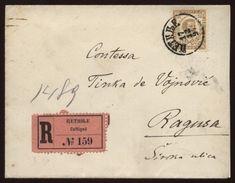 MONTENEGRO 1897 REGISTERED COVER TO RAGUSO - Montenegro