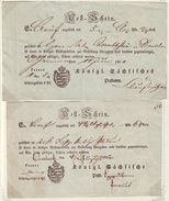 GERMANY SAXONY POSTAL RECEIPTS 1851/2 - Germany