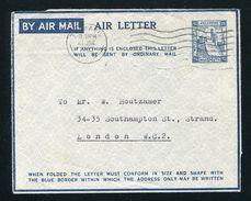 PALESTINE AIRLETTER GEORGE SIXTH 1945 - Palestine