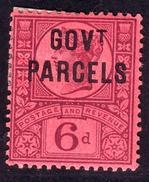 GB QV 6d GOVT PARCELS OFFICIAL OVERPRINT - 1840-1901 (Victoria)