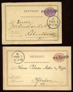 SWEDEN DENMARK SHIPPING 'FRA SVERIGE' STATIONERY CARDS - Sweden
