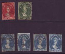 AUSTRALIA, TASMANIA 1855 WATERMARK LARGE STARS - 1853-1912 Tasmania