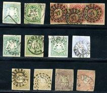 GERMAN STATES BAVARIA 1867-9 GROUP - Germany