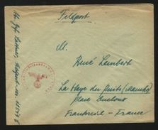 GERMANY WW11 FIELDPOST COVER TO FRANCE - Germany