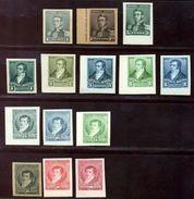 ARGENTINE REPUBLIC 1892-8 COLOUR TRIALS - Argentina