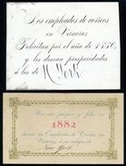 MEXICO 1880/2 NEW YEAR CARDS VERACRUZ/NEW YORK - Mexico