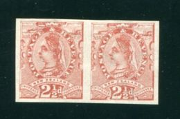 NEW ZEALAND QUEEN VICTORIA PLATE PROOFS STAR IMPERFORATE PAIR - New Zealand