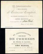 MEXICO 1882 CAMPECHE/LEON/NEW YORK/MERIDA NEW YEAR CARD - Mexico